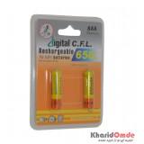 باتری نیم قلمی شارژی C.F.L مدل 650mAh (2تایی)