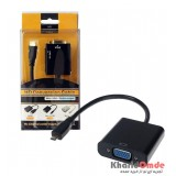 تبدیل Micro HDMI به VGA + کابل صدا AUX