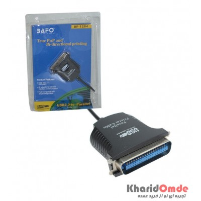کابل تبدیل پارالل پرینتر به BAFO USB مدل BF-1284