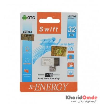 فلش OTG X-Energy مدل 32GB 600X USB 3.0