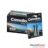 بسته 12 تایی باتری قلمی camelion مدل Digi Alkaline (کارتی 2 تایی)