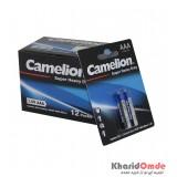 بسته 12 تایی باتری نیم قلمی Camelion مدل Super Heavy Duty (کارتی 2 تایی)