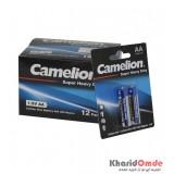 بسته 12 تایی باتری قلمی Camelion مدل Super Heavy Duty (کارتی 2 تایی)