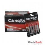 بسته 12 تایی باتری قلمی Camelion مدل Plus Alkaline (کارتی 4 تایی)