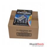 بسته 12 تایی باتری نیم قلمی Camelion مدل Super Heavy Duty (کارتی 6 تایی)