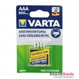 باتری نیم قلمی شارژی VARTA مدل HR03 800mAh 1.2V