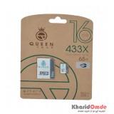 رم موبایل QueenTech 16GB MicroCD Elite 433X 65MB/S خشاب دار
