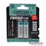 باتری نیم قلمی شارژی ORION مدل HR6 1.2V 2700mAh