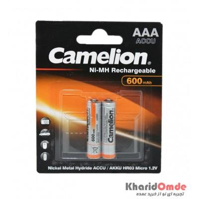 باتری نیم قلم شارژی Camelion مدل 600mAh