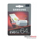 رم موبایل Samsung مدل 64GB MicroSDXC U3 Evo Plus خشاب دار