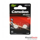 باتری سکه ای Camelion مدل AG10 (کارتی 2تایی)