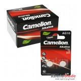 بسته 20 تایی باتری سکه ای Camelion مدل AG10 (کارتی 2تایی)