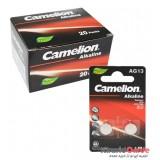 بسته 20 تایی باتری سکه ای Camelion مدل Alkaline AG13 (کارتی 2 تایی)