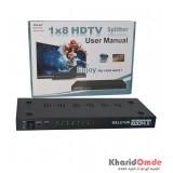 اسپلیتر 8 پورت Oscar HDMI 3D 1.4 مدل OS-SP108