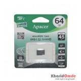 رم موبایل APACER مدل 64GB 45MB/S Class10 U1