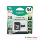رم موبایل APACER مدل 64GB 85MB/S Class10 خشاب دار