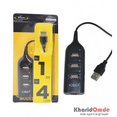 هاب 4 پورت Venous USB مدل PV-H010