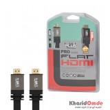 کابل HDMI 2.0 4K فلت مدل Metal Black طول 3 متر Knet Plus