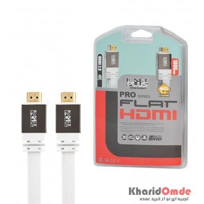کابل HDMI 2.0 4K فلت مدل Metal Black طول 1.8 متر Knet Plus