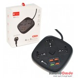رابط برق 3 خانه ProOne و 4 پورت USB مدل SKT02