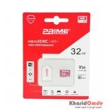رم موبایل Prime 32GB MicroSDXC U3 V30 95MB/S + رم ریدر