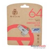 فلش Queen Tech مدل 64GB Omega OTG 3.0