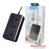 رابط برق 3 خانه Verity و 5 پورت USB مدل PS3111