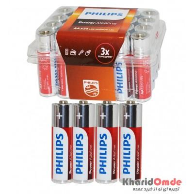 باتری قلمی Philips Power Alkaline بسته (24 تایی)
