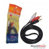 کابل 1 به 2 صدا طول 1.5 متر AV.Cable