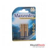 باتری نیم قلمی Maxeeder کارتی 2 تایی