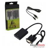 تبدیل VGA به HDMI + ورودی پاور microUSB + ورودی صدا KAISER
