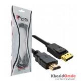کابل تبدیل DisPlay PORT به HDMI طول 1.5 متر V-net