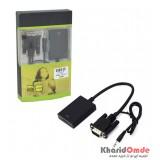 تبدیل VGA به HDMI + ورودی پاور microUSB + ورودی صدا