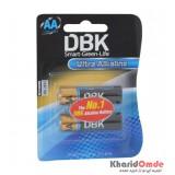 باتری قلمی DBK مدل Ultra Alkaline (کارتی 2 تایی)