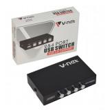 USB سوئیچ دستی چهار پورت V-net