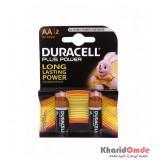 باتری قلمی DURACELL مدل LR6 / MN1500 Plus Power (کارتی 2 تایی)
