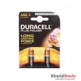 باتری نیم قلمی DURACELL مدل LR03 / MN2400 Plus Power (کارتی 2 تایی)