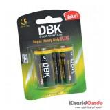 باتری سایز متوسط DBK مدل C R14 Super Heavy Duty Plus (کارتی دوتایی)