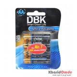 باتری قلمی DBK مدل Ultra Alkaline (کارتی 4 تایی)