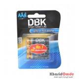 باتری نیم قلمی DBK مدل Ultra Alkaline (کارتی 4 تایی)