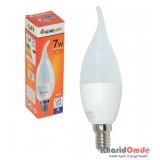 لامپ ال ای دی مهتابی 7 وات آذرنام کد M-703 سرپیچ E14 شمعی