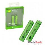 باتری نیم قلمی اورجینال شارژی GP سری Recyko+ 650mAh (2 تایی)
