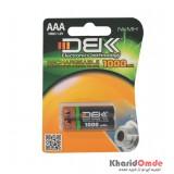 باتری نیم قلمی شارژی D.B.K مدل 1000mAh (2 تایی)