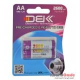 باتری قلمی شارژی D.B.K مدل 2600mAh (2 تایی)