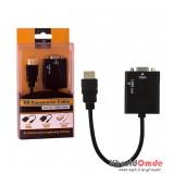 تبدیل Mini HDMI به VGA طول 0.2 متر + کابل صدا AUX