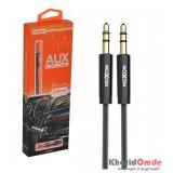 کابل 1 به 1 صدا (AUX) کنفی طول 1 متر موکسوم (MoXoM) مدل AUX-09