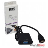 تبدیل HDMI TO VGA همراه کابل صدا K-NET