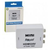 تبدیل HDMI به AV رویال (Royal) مدل MINI HDMI2AV