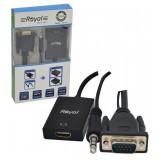 کابل تبدیل VGA به HDMI + کابل AUX و Adaptor رویال (Royal) مدل RV-315