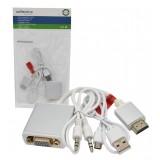 کابل تبدیل HDMI به VGA + کابل AUX و Adaptor رویال (Royal)
